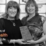 Nic & Jane collecting Cardiff Life Health Award