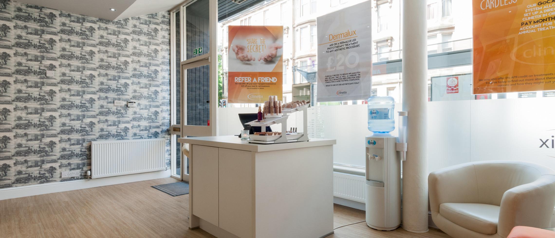 Clinetix Rejuvenation West End clinic reception
