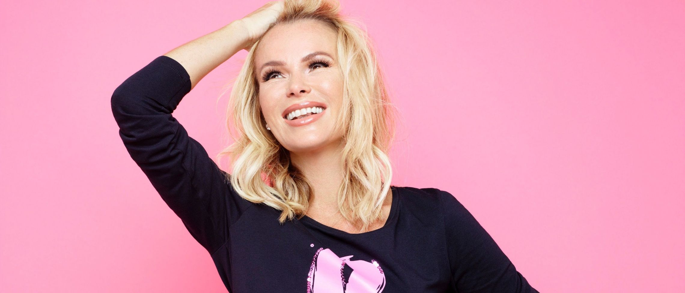 Amanda Holden is all smiles for breast cancer campaign as we hear from her dental nurse