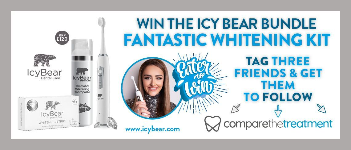 Win a Icy Bear Bundle, the revolutionary dental whitening cosmetic brand developed and designed by celebrity dentist Dr Hanna Kinsella.